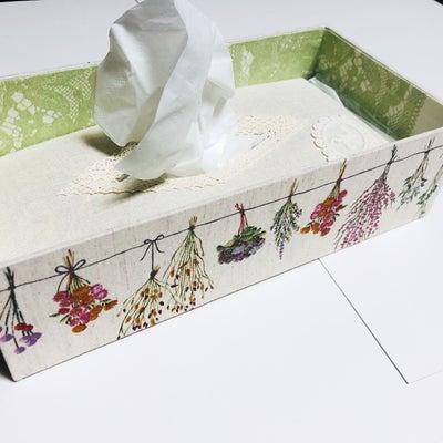 アトリエエリカ3月の予定と3月のネイル 春のティッシュボックス 北欧風の箱の記事に添付されている画像