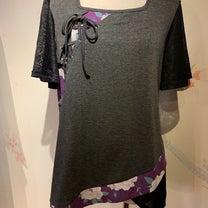 gouk桜柄袖の編み上げトップス♪の記事に添付されている画像