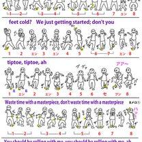 (UMWD)DNCE 【Cake by the Ocean】コリオ表の記事に添付されている画像