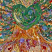 新作3点*永遠の愛と調和の夫婦杉*愛と光溢れる玉依比売命*魂の浄化を施す紫の龍*の記事に添付されている画像