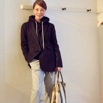 フーディートップスのジャケットスタイル。の記事に添付されている画像
