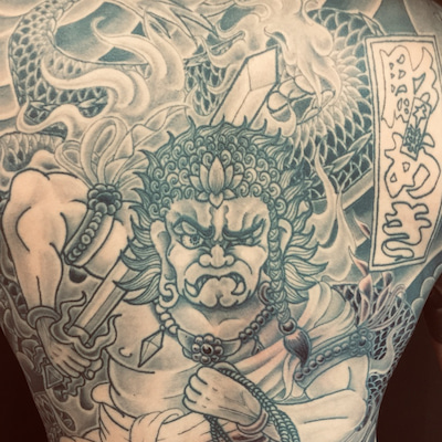 刺青★不動龍(バックピース)暈し進行中!の記事に添付されている画像