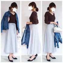 スウェットスカートなのに可愛くてきれいめ!?DHOLIC『スウェットAラインスカの記事に添付されている画像