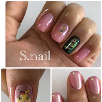ピンク オーロラ イースター ミスバニー痛ネイル☆*。の記事に添付されている画像