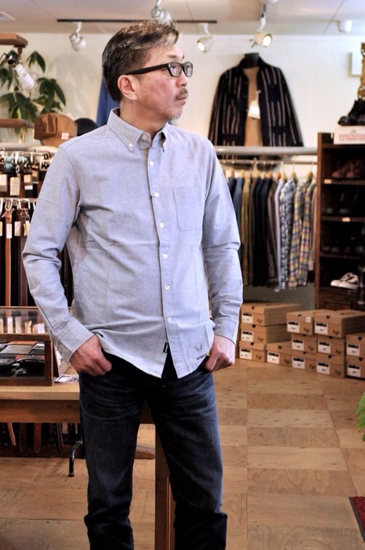 bb88b25f3d51 男のファッションの基本アイテム 長袖ボタンダウンシャツ アビレックスAVIREX | BLUELINE(ブルーライン)佐賀県  武雄市より、カジュアルセレクトショップ