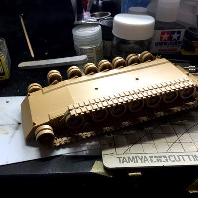 タミヤ 1/48 M1エイブラムス戦車 その2の記事に添付されている画像