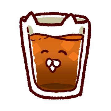 飲み物特集 Lineスタンプっぽく使えるゆるイラスト画像無料配付中
