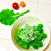 菜の花の柚子わささんしょうマヨ和え♡の記事に添付されている画像