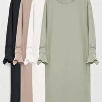 【韓国アパレル】バックポイントシャーリングワンピース レディース婦人服の記事に添付されている画像