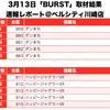 【BURST(バースト)】(神奈川県)ベルシティ川崎店 3月13日《速報レポート》の画像