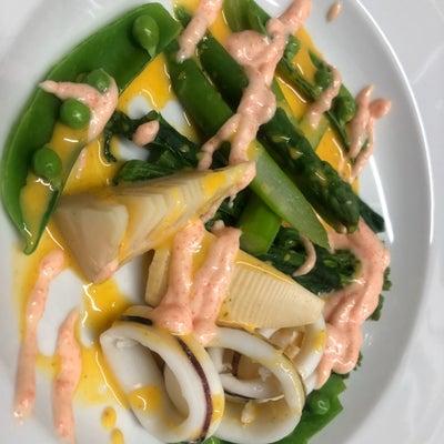 新作 春野菜のサラダ アイオリ&明太sauceの記事に添付されている画像