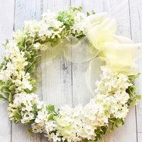ふんわり♡爽やか春フラワーリースの記事に添付されている画像