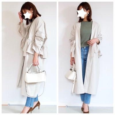 「春ですね〜♪」と褒められたMyuのノーカラーコートの記事に添付されている画像