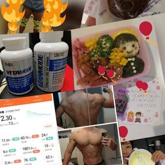 初大会フィジークボディ育成減量68〜70日(EVLution Nutrition半額です✧)