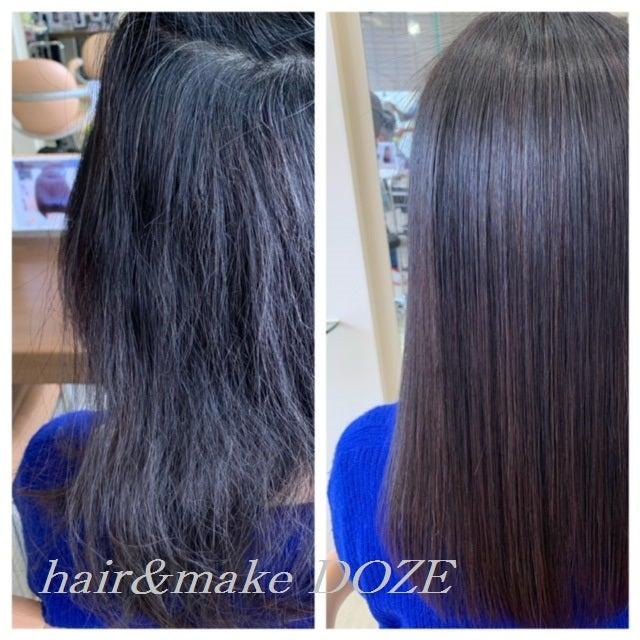 縮毛矯正したばっかりでも髪質改善出来ますか?