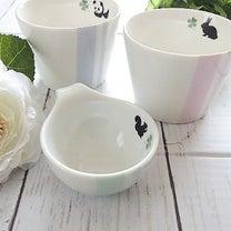 【ポーセラーツ生徒さま作品】お子さま用フリーカップと離乳食用のミニボウルの記事に添付されている画像