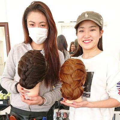 編み込みヘアセット講習(^_^)/の記事に添付されている画像