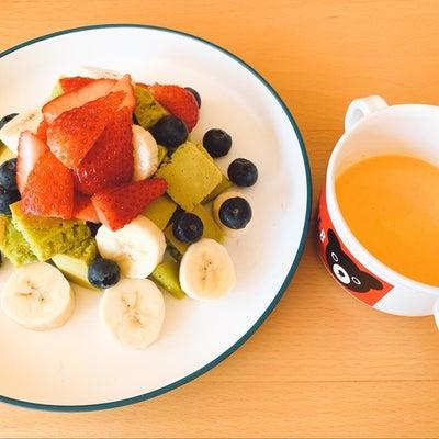 ほうれん草パンケーキと人参スープの記事に添付されている画像