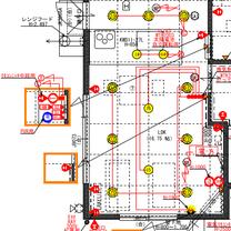 第七回打合せ 図面(LDK 電気)の記事に添付されている画像