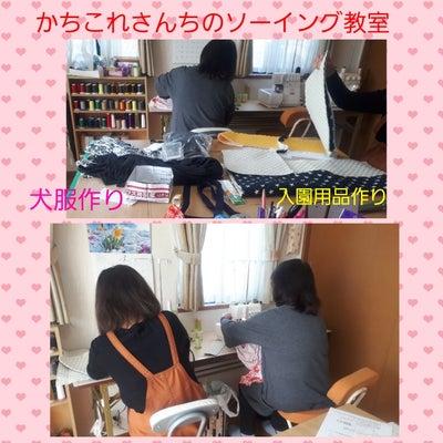 ソーイング教室♪大型犬用&入園用品、スカート&パンツの記事に添付されている画像