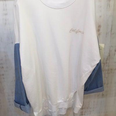 お袖デニム切り替えトップス☆の記事に添付されている画像