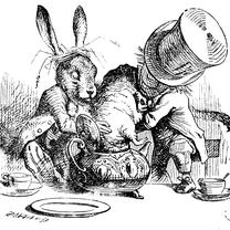 3月なので、、、三月ウサギ(  March Hare)の記事に添付されている画像