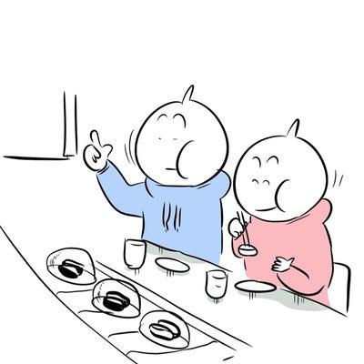 寿司屋でハンバーガーの記事に添付されている画像