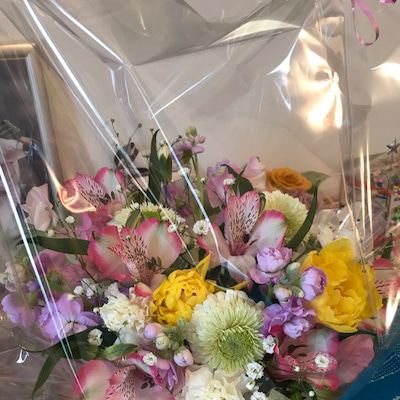 みんくんとのお別れ、綺麗なお花の記事に添付されている画像