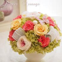 豪華絢爛♡ブーケのようなオールプリザアレンジ♡♡《花器持ち込みレッスン・生徒様作の記事に添付されている画像