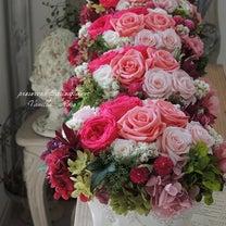 #披露宴のテーブル装花の記事に添付されている画像