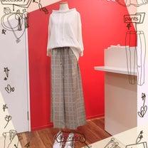 チェックワイドパンツの着こなし⭐の記事に添付されている画像