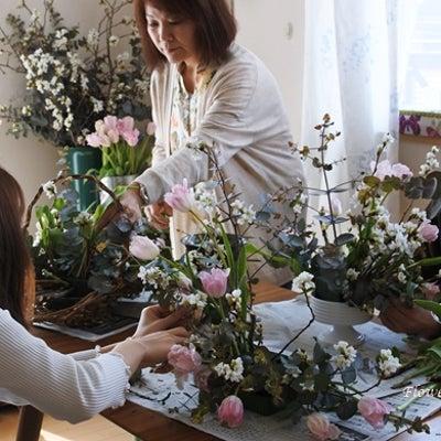 桜のアレンジメントの記事に添付されている画像