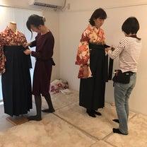 引っ掛けても、引っ張っても崩れない!袴の着せつけお伝えしてます!の記事に添付されている画像