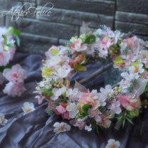 アーティフィシャルフラワーでつくる桜リースレッスンにお越しいただきましたの記事に添付されている画像