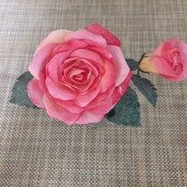 生徒さんが作ってくださった紙のお花に感動♪♪♪♪♪の記事に添付されている画像