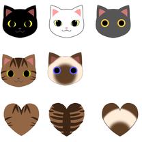 猫とハートの下絵の記事に添付されている画像
