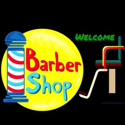 barbershopロゴと理容椅子のデザインの記事に添付されている画像