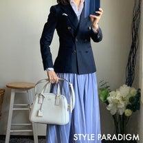 紺ブレジャケットとスカートのビジネスコーデの記事に添付されている画像