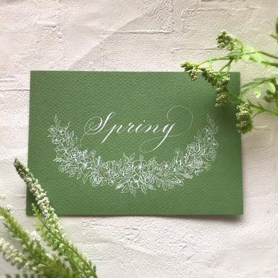 【募集中】カリグラフィーレッスン~春のカードの記事に添付されている画像