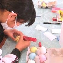【筑波公民館】タマゴに絵付けするだけですが、かもちゃん先生が登場すると作品が広がの記事に添付されている画像