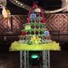 円形シャンパンタワーの画像