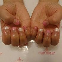 春ネイル ピンク系の記事に添付されている画像