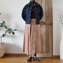 ラップスカート春コーデの記事に添付されている画像