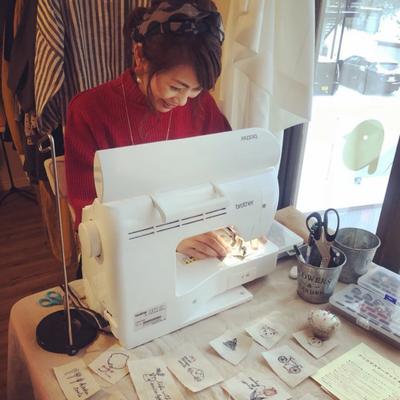 ミシン刺繍普及活動の記事に添付されている画像