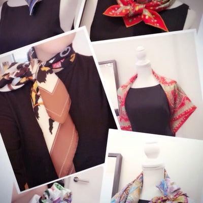 オリジナルスカーフ作りと巻き方セミナーの記事に添付されている画像