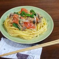 サバ缶で楽々♪菜の花とトマトの旨みたっぷり!もっちもちパスタの作り方の記事に添付されている画像
