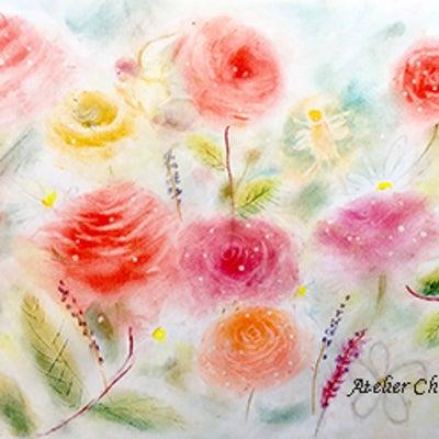 ☆パステルワークショップ~ピュアな薔薇と妖精~の記事に添付されている画像
