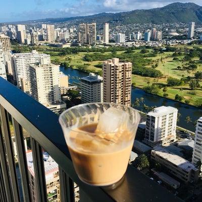 今朝のハワイと朝ごはんの記事に添付されている画像