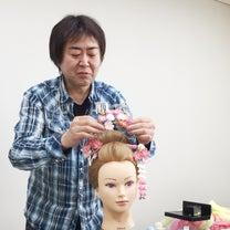 伴さんからももの頭でデモストしてもらっちゃいました♡新日本髪もできたね♡の記事に添付されている画像