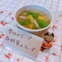 本日のスープ(3/19)/春野菜のスープの記事に添付されている画像
